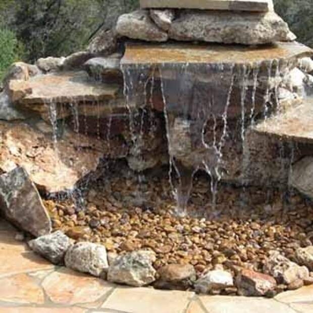 идеи для дачи водопад из камня