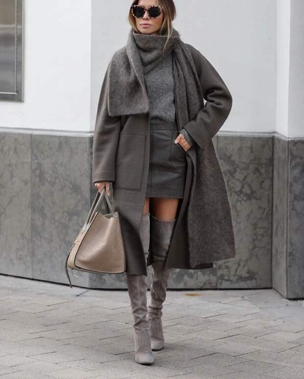 Идеальный образ total grey в зимнем гардеробе: 11 идей, которые помогут выглядеть стильно
