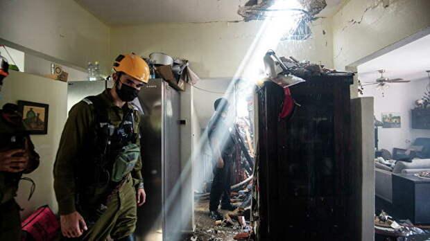 Разрушенное здание в Ашдоде, Израиль