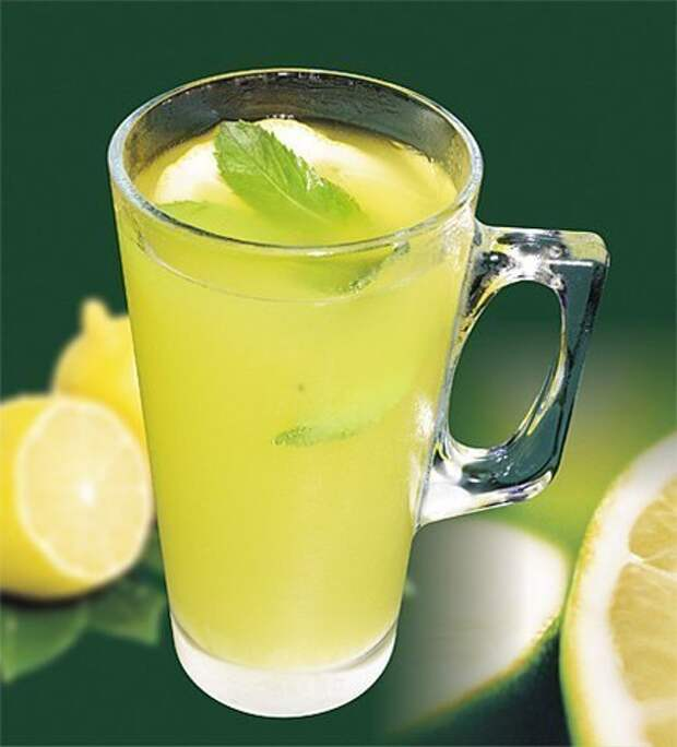 Мятный лимонад,способный умерить аппетит,пьем перед едой