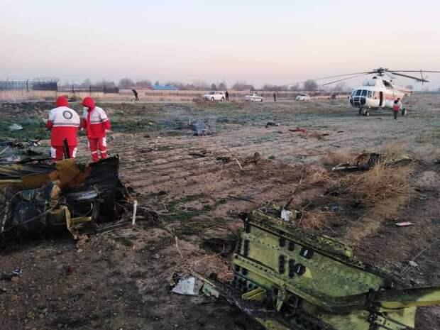 Украинский пассажирский самолет рухнул в Иране из-за возгорания двигателя