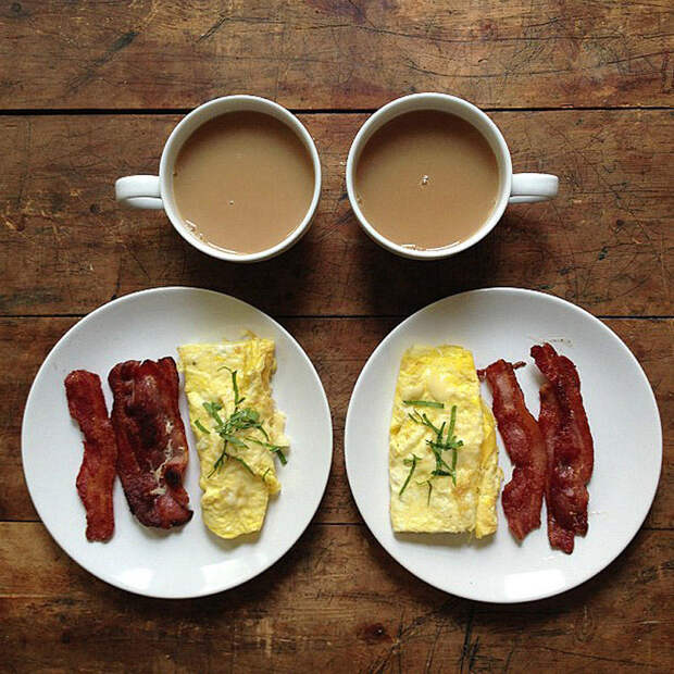 Симметричные завтраки вInstagram