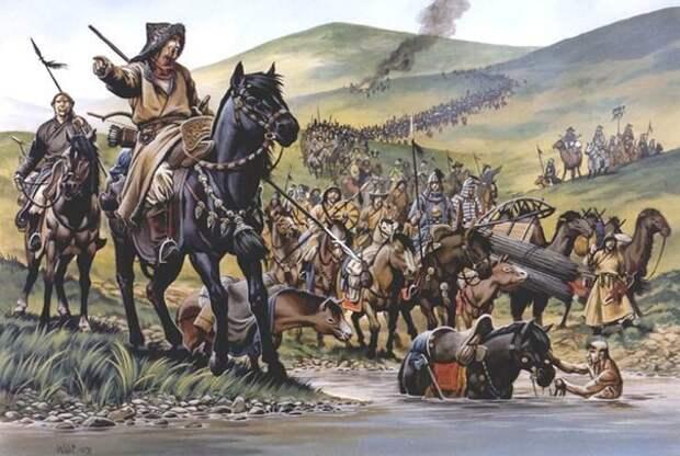 Монголы в походе. история, монголы