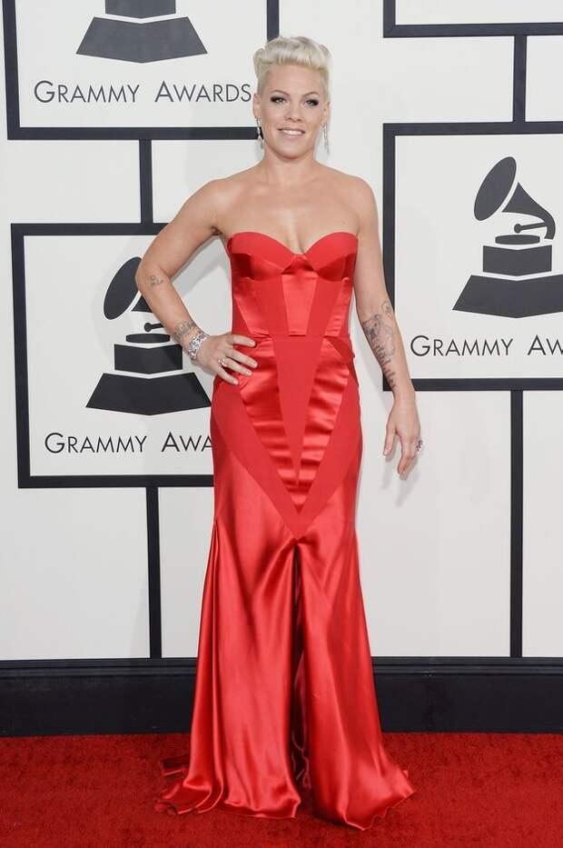 pink red dress