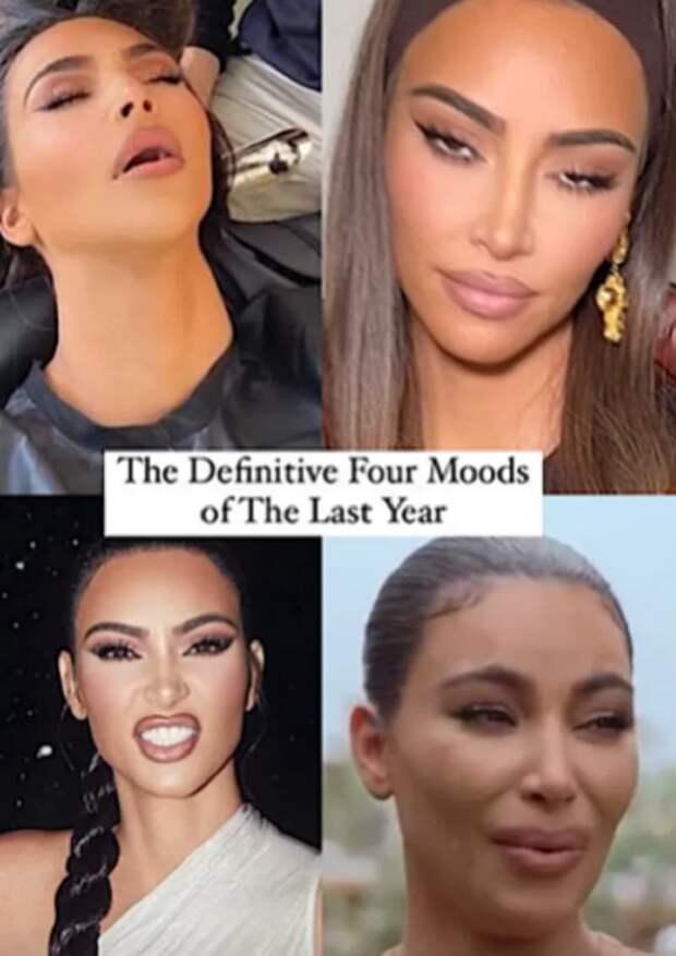 Ким Кардашьян уснула в кресле стилиста и стала мемом