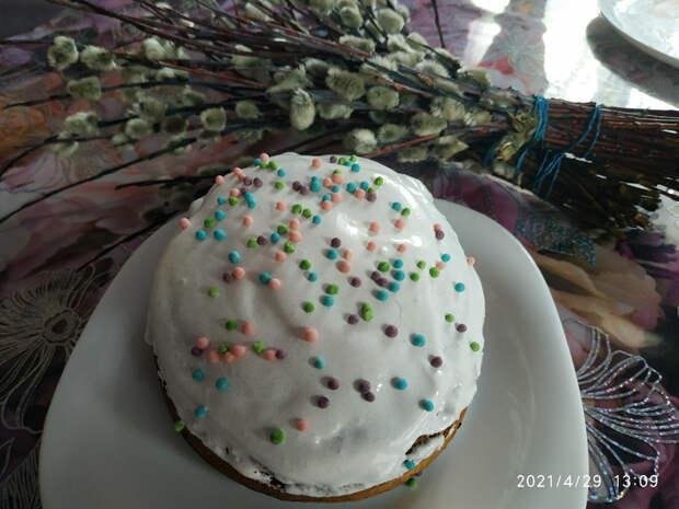 Кулич быстрый или кекс из мороженного