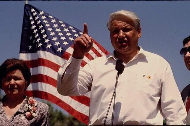Борис и американский флаг