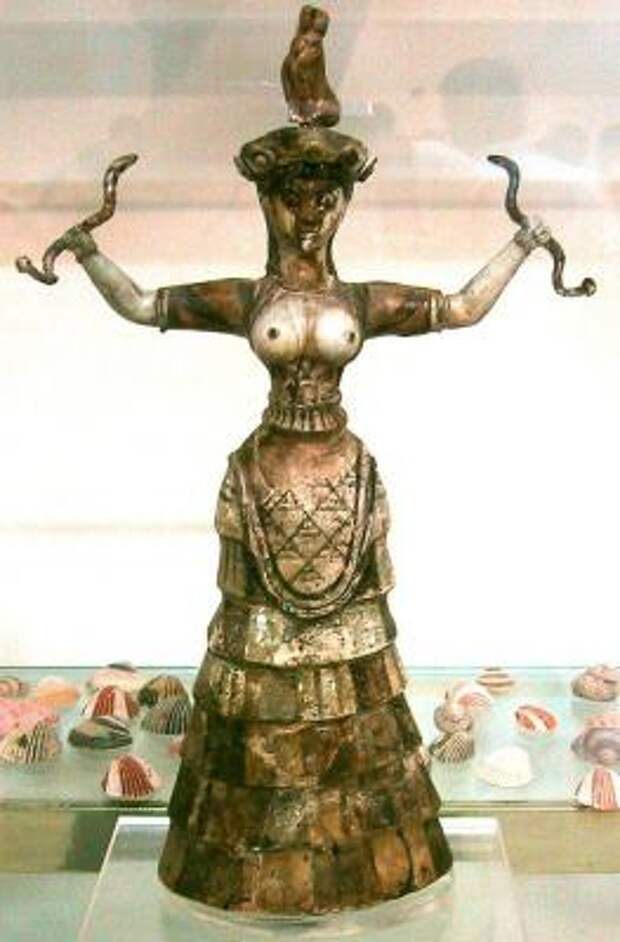 Минойская цивилизация - культура, архитектура, искусство, религия - Богиня змей