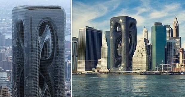 Турецкие архитекторы предлагают построить на Манхэттене необычную высотку