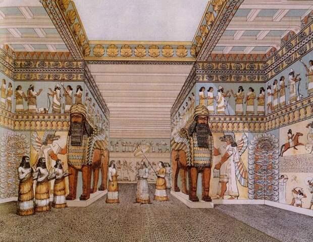 Зал дворца в Нимруде