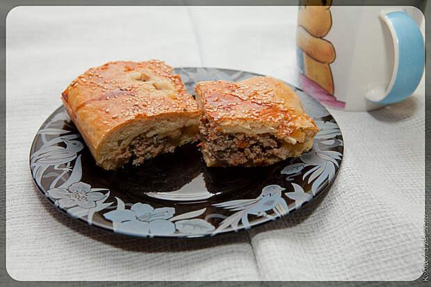 Пирог с мясом и еще кое с чем