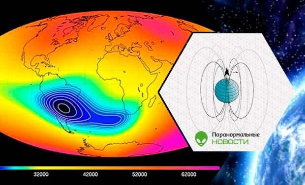 смена полюсов, Северный полюс, магнитное поле, Земля, магнитная аномалия, спутник