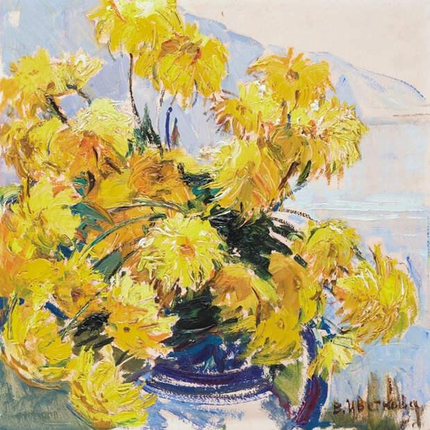 Желтые цветы», 1977 (700x700, 749Kb)