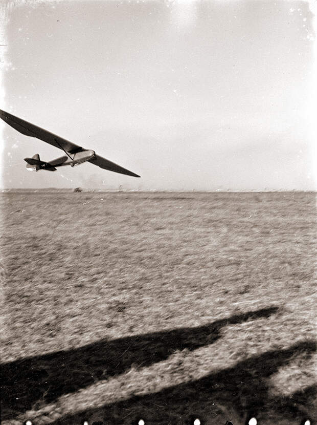 Glider Flying Low, 1930s Japan