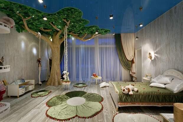 Даже самое простое декоративное дерево в детской комнате сделает помещение особенным и нескучным.