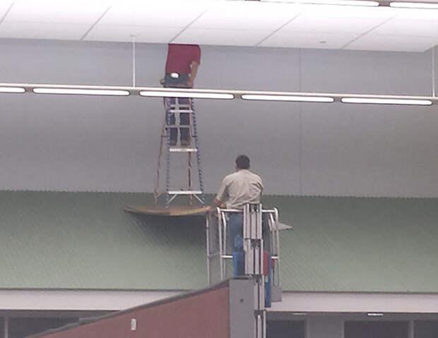 Люди, которые не знают, что такое техника безопасности  безопасность, люди