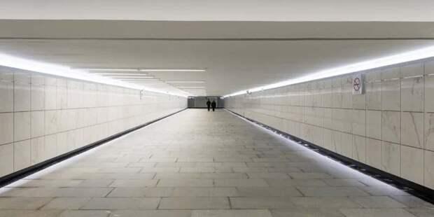 Три подземных перехода на Волоколамском шоссе готовы к открытию