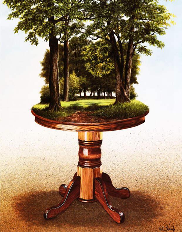 The Oakwood Table (30cm x 38cm)