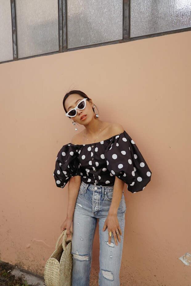 15 женственных идей с чем носить блузку испанку и выглядеть прекрасно