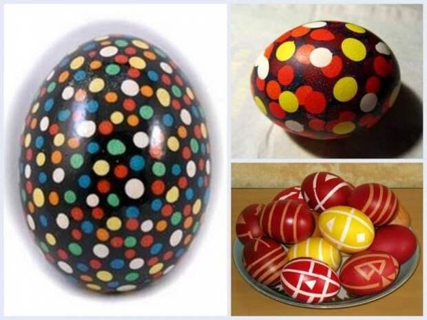 Различные виды росписи пасхальных яиц