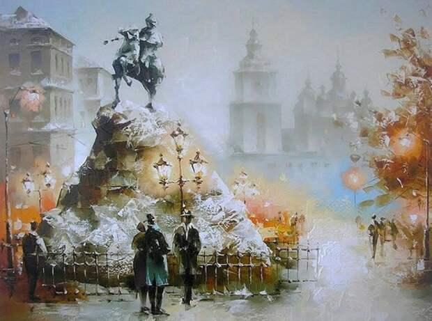 Художник Игорь Кухарский. Старые уютные улочки