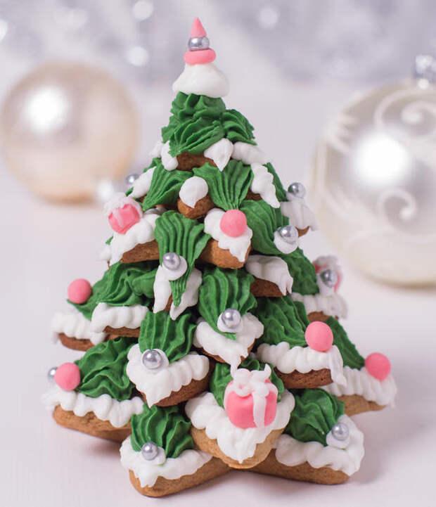 Эффектная сладкая елка