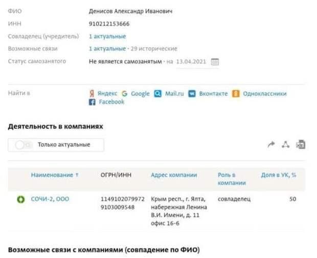 Русофобку Денисову поймали на владении огромными активами в Крыму