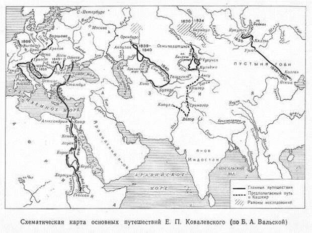 Егор Ковалевский и страны Востока