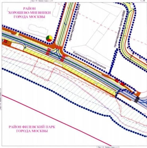 Три пешеходных перехода и светофор появятся на Карамышевской набережной