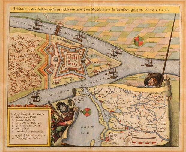 Коронный город Данциг. План-схема, 1626 год - Страсти по Данцигу | Warspot.ru