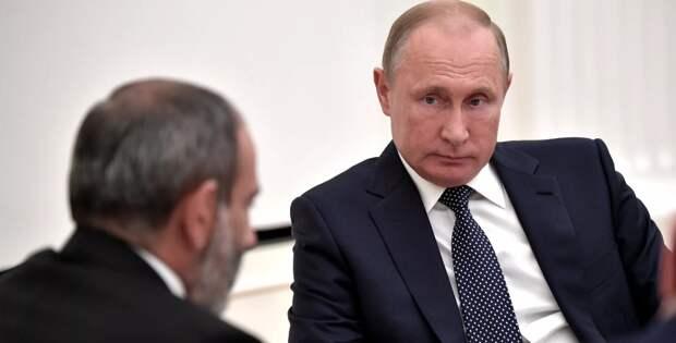 Путин разоблачил Пашиняна