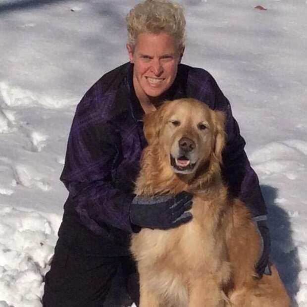Слепая женщина впервые видит свою собаку