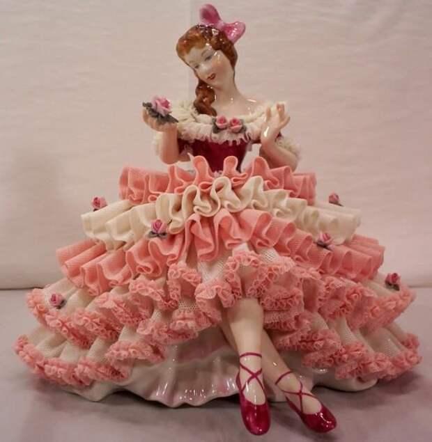 Vintage Dresden Germany Ballerina Dancer Porcelain Figurine