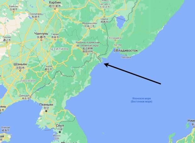 Кусочек границы Россия-КНДР