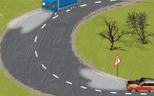 Как избежать аварии с неуправляемым грузовиком?