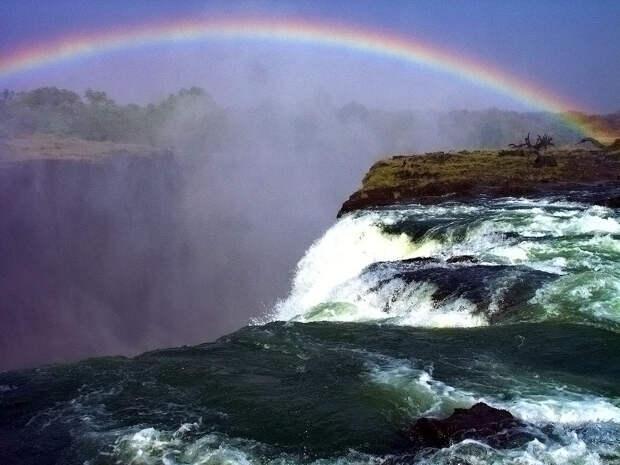 rainbow18 Радуга над самым большим водопадом в мире
