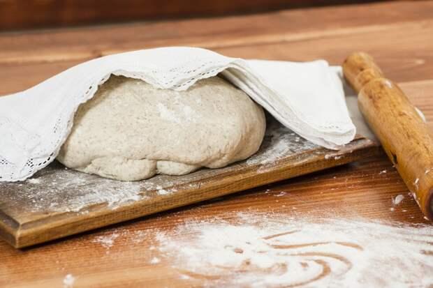 дрожжевое тесто сухие дрожжи на воде