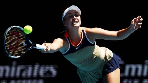Потапова отдала 9 геймов подряд и проиграла Томлянович на старте турнира в Майами