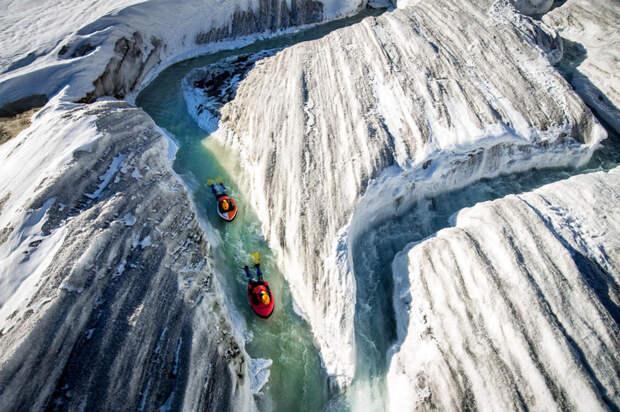 Гидроспидинг в альпийских ледниках