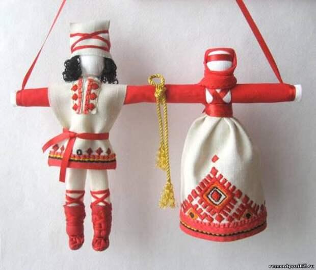 обереговая кукла неразлучники