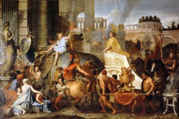 Шарль Лебрен «Александр вступает в Вавилон»