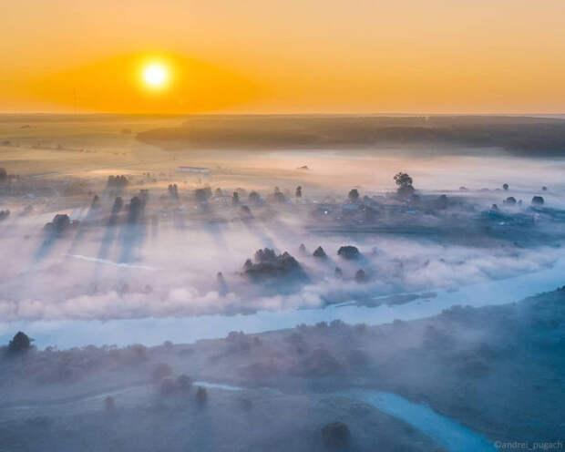 Красота бескрайних просторов в захватывающих аэрофотоснимках Андрея Пугача