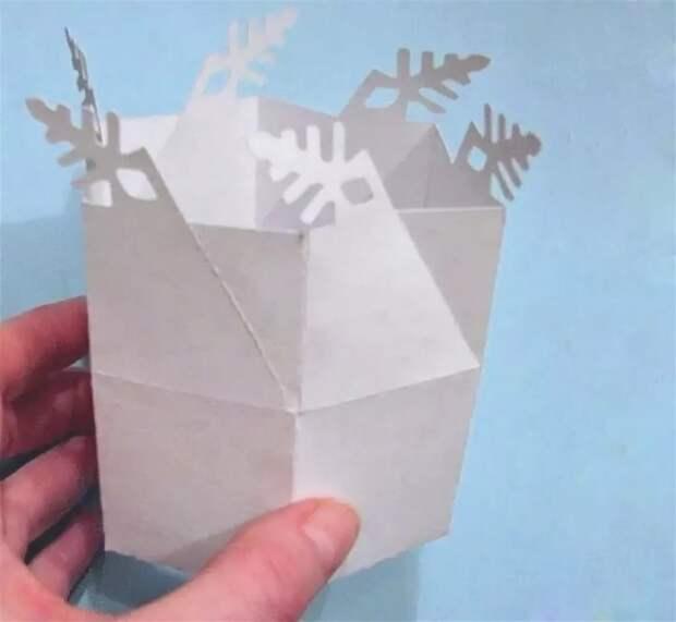 Подарок в снежинке (diy)