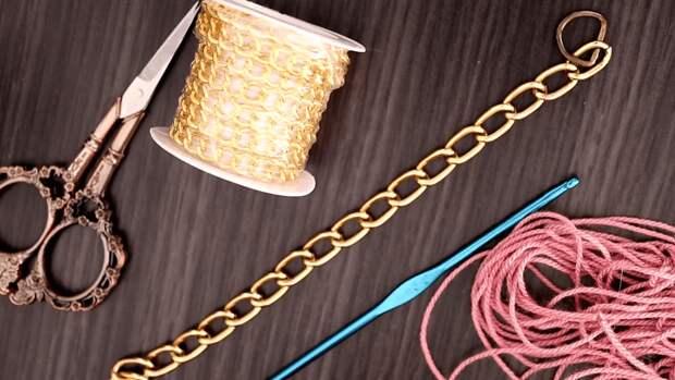 Обычная цепочка, переделанная в оригинальное украшение