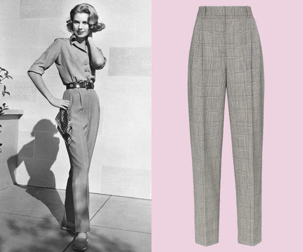 Фото Принцесса Монако Грейс Келли в стильных брюках
