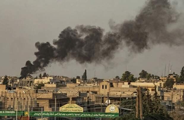 Опубликованы первые кадры бомбардировок ВВС Турции в Сирии