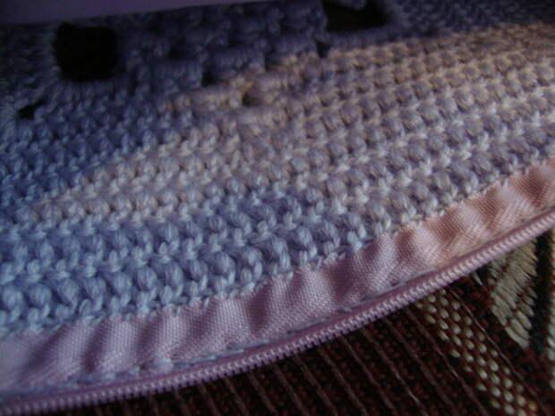 Красивый мотив крючком для пледа и подушки. Схема + описание