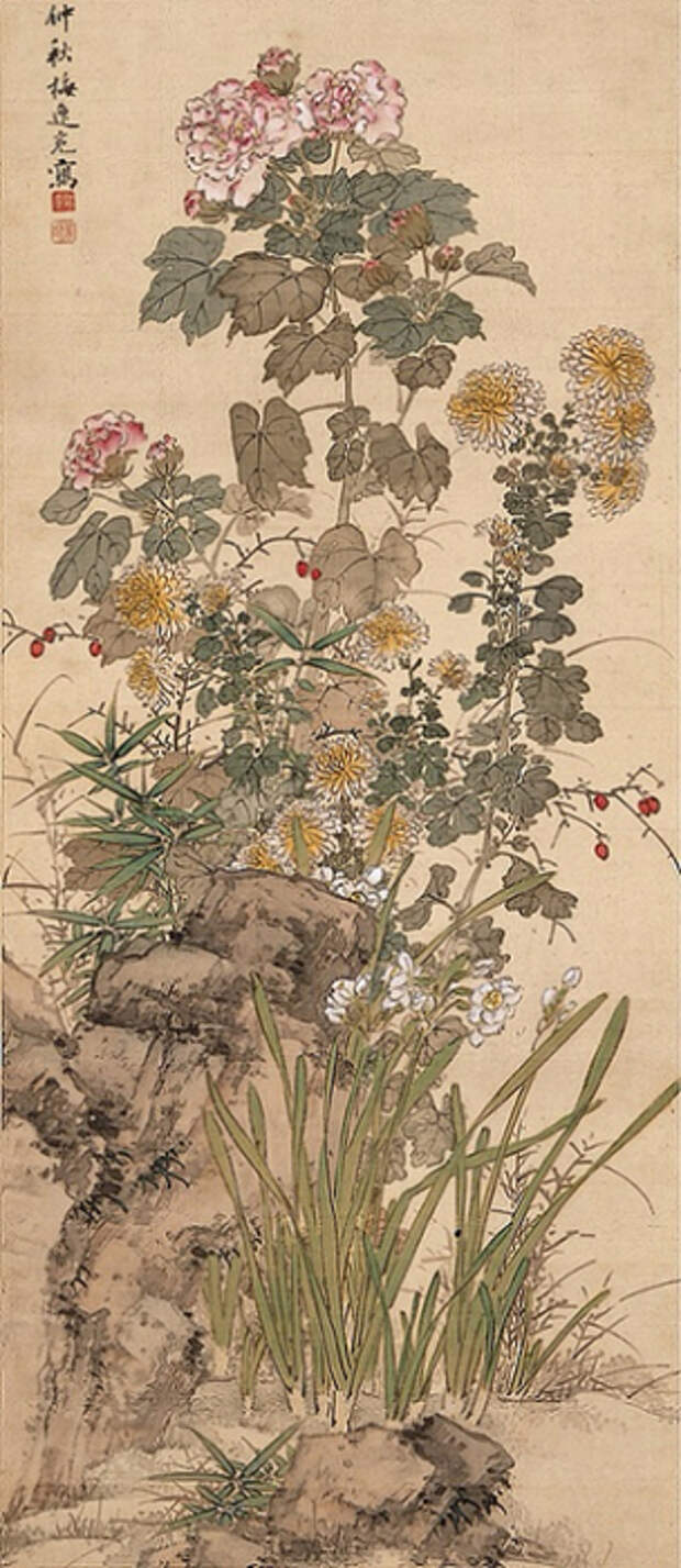 Autumn Flowers (304x700, 280Kb)