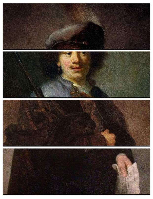 Коллаж из шедевров: «Четыре картинки, одно слово»