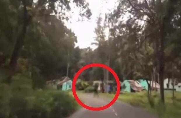 Призрак попал на камеру видеорегистратора